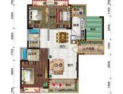 金穗・悦景台3室2厅2卫121平方米户型图