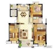 苏宁天御广场3室2厅2卫135平方米户型图