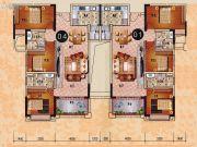 乐天峰公馆3室2厅2卫114平方米户型图
