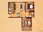 凤凰城2室2厅1卫98平方米户型图