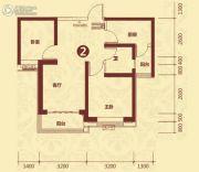 恒大山水城2室2厅1卫76平方米户型图