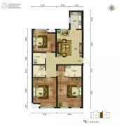 磊阳天府3室2厅2卫136平方米户型图