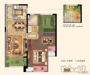 路劲城3室2厅1卫87平方米户型图