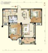 航宇・香格里拉2室2厅1卫90--92平方米户型图
