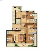 江湾城二期4室2厅3卫188平方米户型图