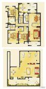 金洋奥澜半岛3室2厅2卫140平方米户型图