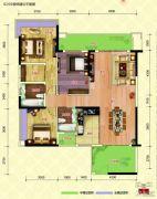 中恒海晖城3室2厅2卫135平方米户型图