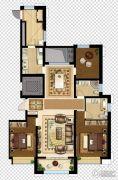 万达广场4室2厅2卫140平方米户型图