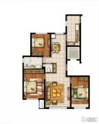 万科半山半海3室2厅1卫125平方米户型图