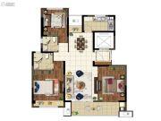 上悦城3室2厅2卫116平方米户型图