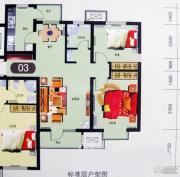 渤海天易园2室2厅1卫93平方米户型图