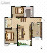 大成门3室2厅1卫109平方米户型图