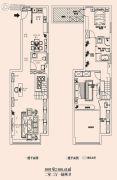 恒隆国际公寓2室2厅1卫100平方米户型图