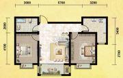 丽晶名邸2室1厅1卫89平方米户型图