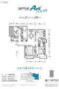 富力津门湖3室2厅2卫154平方米户型图