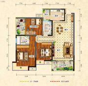 中央绿洲3室2厅2卫110平方米户型图