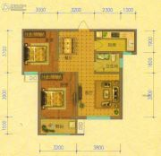 北斗星城・御府Ⅱ期2室2厅1卫86平方米户型图