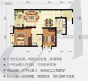 时代云图(广州)2室2厅1卫66平方米户型图