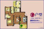 运杰龙馨园3室2厅2卫160平方米户型图