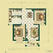 银泰逸翠园2室2厅1卫90--100平方米户型图