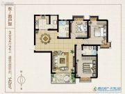 西湖印象3室2厅2卫0平方米户型图