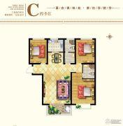枫林水岸3室2厅2卫123平方米户型图