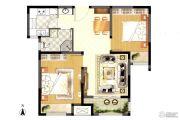 荣盛龙湖半岛2室2厅1卫76平方米户型图