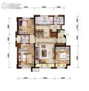 万科如园3室2厅2卫130平方米户型图