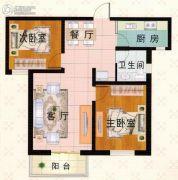 富泰城3室1厅1卫116平方米户型图