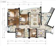 棕榈泉悦江国际4室2厅2卫0平方米户型图