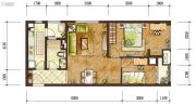 龙湖两江新宸2室2厅1卫0平方米户型图