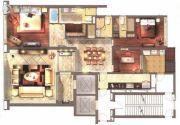 仁恒滨海中心3室2厅3卫223平方米户型图