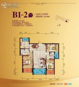 鼎盛时代3室2厅2卫108平方米户型图