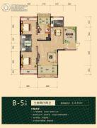 海德公园3室2厅2卫115平方米户型图
