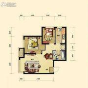 保利香槟国际2室1厅1卫65平方米户型图