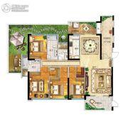 帝�Z苑4室2厅3卫206平方米户型图