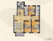 碧水俪城3室2厅2卫135平方米户型图