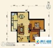 海韵国际城2室2厅1卫79平方米户型图