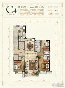 保利花园3室2厅2卫138--140平方米户型图