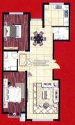 阿穆尔嘉园2室2厅2卫88平方米户型图