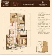 金地艺城瑞府3室2厅1卫95平方米户型图