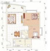 江源半岛花园2室2厅1卫70平方米户型图