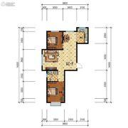 步阳江南甲第2室2厅1卫91平方米户型图