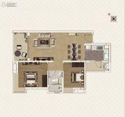 新世界凯粤湾2室2厅1卫79平方米户型图