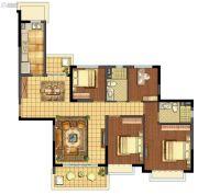 苏州恒大悦珑湾4室2厅2卫145平方米户型图