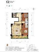 海碧台2室2厅2卫199平方米户型图