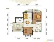 德利海北海2室2厅2卫84平方米户型图