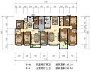 华信・越绣公园5室2厅3卫0平方米户型图
