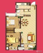 泰盈八千里2室2厅1卫91平方米户型图