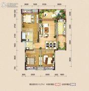 巨龙江山国际92平方米户型图